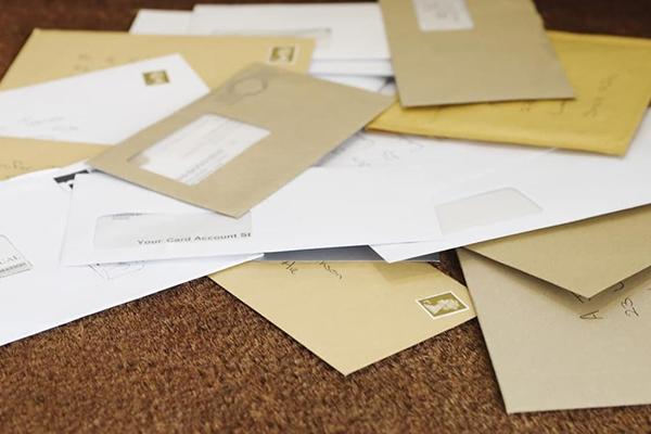 封筒の数々